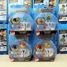 4 X Tomy Pokemon Go Pikachu Throw 'n' Pop Poke Ball Action Figures Doll Kids Toy
