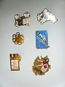 1988 Calgary Olympic Pins Lot of 6