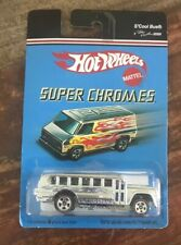 Hot Wheels - Super Chromes ~ Argento S'Cool Bus ~ Nuovo su Scheda
