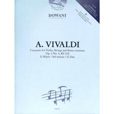 Vivaldi, Antonio: Concerto G-Dur op.3,3 RV310 - Noten für Violine und Klavier
