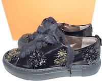 $498 AGL Attilio Giusti Leombruni Flower Bronze Flower Wedge Sneakers Shoes 36