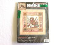 Dimensions Herbal Whiskers Cat Herb Garden Cat Nip Counted Cross Stitch Kit 3828