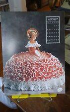 Vtg Annies Attic calendar doll crochet gown chart Miss August Antebellum