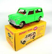 Morris Mini Traveller fluo green - Dinky Toys DeAgostini Voiture Model Car 197