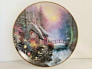 Thomas Kinkade Falbrooke Cottage 1st Enchanted Collector Plate Edwin M. Knowles
