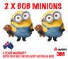 2 x G-BOB MINIONS  back window CAR, TRUCK WALL OR DOOR STICKER DECAL