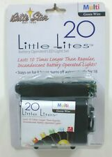 Brite Star 20 Count Battery Operated LED Little Lights, White Lights, Green Wire
