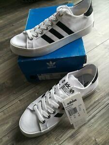 ADIDAS Court Vantage Sneaker Schuh weiß schwarz Gr. 6,5  40 7 OVP NEU