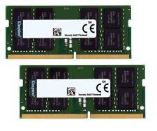 Kingston 32GB(2x16GB) DDR4 2666MHz PC4-21300 1.2V 260pin SODIMM Laptop Memory