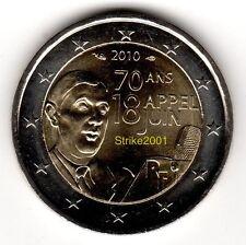 2 EURO COMMEMORATIVO FRANCIA 2010 De Gaulle