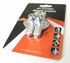 Alligator Campy Campagnolo brake pads shoes insert holder Silver color, 1 pair