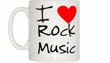 I Love Corazón de la música rock Taza