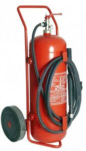 Fahrbarer Pulverfeuerlöscher P50  Feuerlöscher 50 kg