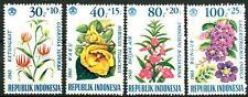 INDONESIA - 1965 - Fiori (I). Sovrattassa a favore delle opere di beneficenza