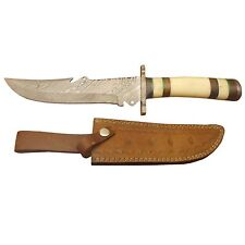 """Pioneer Damascus Steel Hunting Knife With Bolster 8"""" Pt-1449"""