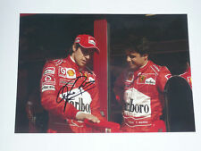 Luca Badoer Signed A4 Size Photo