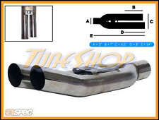"ASPEC BLASTPIPES LEFT TIPS 3"" INLET T-304 STAINLESS UNIVERSAL MUFFLER EXHAUST"
