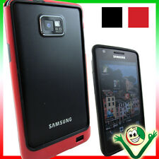 Pellicola+Bumper ROSSO NERO per Samsung Galaxy S2 i9100 S2 Plus i9105 custodia
