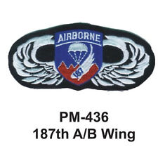 "3""  187TH A/B WING Embroidered Military Patch"