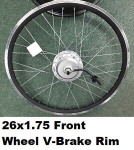 "26"" x1.75 Front Wheel  36v 250w Electric Bicycle Motor Conversion Kit E Bike"