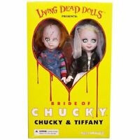 "Mezco Living Dead Dolls Bride of Chucky - Chucky & Tiffany 10"" Action Figure Set"