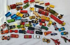 Joblot Of Matchbox Cars Bus Hovercraft Bike Trailer Tanks Race Super Kings Etc