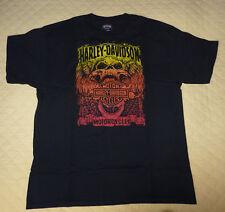 T-shirt ORIGINALE Harley Davidson ! taglia L - usata ; bella !!  molto colorata