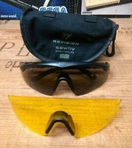REVISION SAWFLY GLASSES & case smoked & yellow leans size SIZE REGULAR
