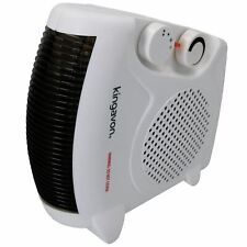 2KW Electric Upright or Flat Blow Fan Heater 2 Heat Settings Hot Or Cold Air
