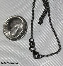 """COUTURE 18"""" Italian Solid 14K BLACK Rhodium Gold Cable Chain 2.62g EXOTIC Look"""
