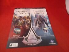Ask Me About Assassin's Creed Xbox One 360 Playstation 4 PS3 Store Display Sheet