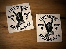 2x Live Music pegatinas rock & roll festival musical sticker heavy metal Old #118