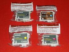 4 CARTUCCE ORIGINALI EPSON STYLUS SET t0431 t0442 t0443 t0444 con fattura