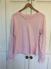 Da-Nang Women's Pink Long Sleeve Embroidered & Beaded Pullover Shirt Small/ Med