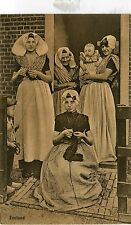 Netherlands Zeeland - Country Women Dress Costume old sepia postcard