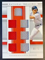 2020 Panini National Treasures XANDER BOGAERTS 7-Piece Jersey Patch Relic SP /72