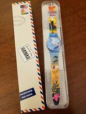 RARE NIB Swatch Hawaii Exclusive Destination Watch Pau Hana Time GZ339