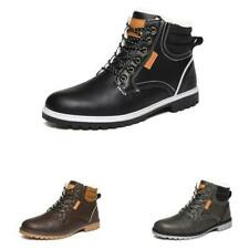 39-46 Mens High Top Winter Snow Ankle Boots Shoes Fur Lined Warm Non-slip Chic L