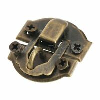 12Pcs Vintage Brass Decorative Hasp Latch Lock for Jewelry Gift Wine Wooden Box