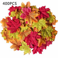 400Pcs Mixed Artificial Autumn Maple Leaves Silk Fall Wedding Home Leaf Decor