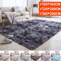 Rectangle Shaggy Carpet Bedroom Living Room Floor Pads Mat Soft Fluffy Area Rug*
