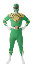 Adult Mighty Morphin Power Rangers Green Fancy Dress Costume 2nd Skin Superhero Large 810949