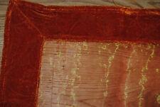 Tisch Läufer Orange orientalisch Organza mit Samt   ca.174 x 39cm