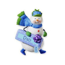 Happy Holi-Dad 2010 Hallmark Ornament Family Dad Father Snowman Christmas Gift
