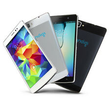 Stylish 3G Unlocked Dual-Core 5.5in Smart Cell Phone Android 4.4 KK White