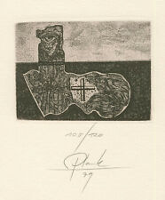 Ex libris PF 1980, by PLANK HEINZ / Germany
