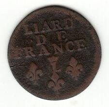 Louis XIV, 1693 Crowned L copper Liard, Lille mint,
