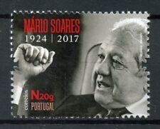 Portugal 2017 MNH Mario Soares Prime Minister 1v Set Politicians Stamps