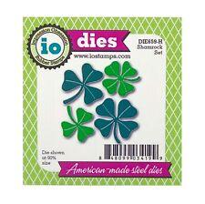 St. Patrick's Shamrocks Metal Die Cut Impression Obsession Cutting Dies DIE659-H