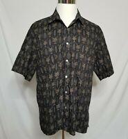 Tori Richard Mens XL Hawaiian Camp Shirt Button Front Short Sleeve Palm Trees